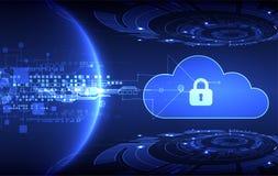 Fondo abstracto de la tecnología de la nube de la seguridad ilustración del vector