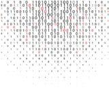 Fondo abstracto de la tecnología del código binario Fotos de archivo libres de regalías