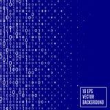 Fondo abstracto de la tecnología del código binario Fotografía de archivo libre de regalías