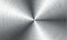 Fondo abstracto de la tecnología del metal Aluminio con la textura pulida, cepillada, cromo, plata, acero, para el diseño stock de ilustración