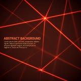 Fondo abstracto de la tecnología del vector con los rayos laser rojos de la seguridad stock de ilustración