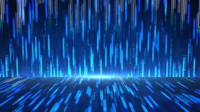 Fondo abstracto de la tecnología digital con datos, la cuenta y números en realidad virtual gráfico del movimiento de 4 k ilustración del vector