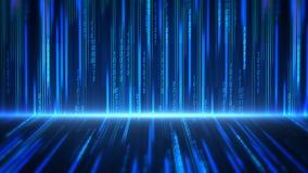 Fondo abstracto de la tecnología digital con datos, la cuenta y números en realidad virtual gr?fico del movimiento 4K libre illustration