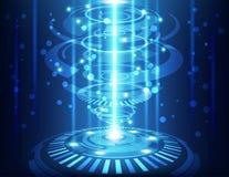 Fondo abstracto de la tecnología, ejemplo del vector Imágenes de archivo libres de regalías