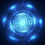Fondo abstracto de la tecnología Ilustración del vector Imagen de archivo libre de regalías