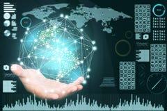 Fondo abstracto de la tecnología, innovador creativos, idea y concepto de pensamiento futurista Imagen de archivo