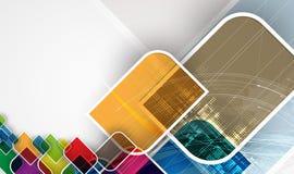 Fondo abstracto de la tecnología Interfaz futurista de la tecnología Imagen de archivo libre de regalías