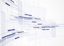 Fondo abstracto de la tecnología Interfaz futurista de la tecnología Vecto Foto de archivo libre de regalías