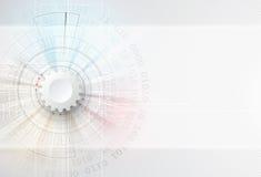 Fondo abstracto de la tecnología Interfaz futurista de la tecnología Vecto Imagenes de archivo