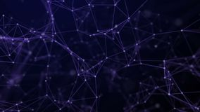 Fondo abstracto de la tecnología de líneas animadas y de puntos Contexto geométrico de colocación del espacio inconsútil ilustración del vector