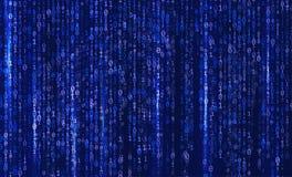 Fondo abstracto de la tecnología Matriz del código binario del ordenador programación codificación Concepto del pirata informátic stock de ilustración