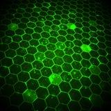 Fondo abstracto de la tecnología, plantilla hexagonal Fotos de archivo libres de regalías