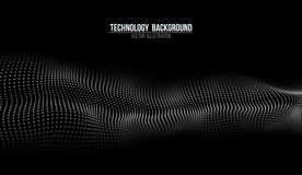 Fondo abstracto de la tecnología Rejilla del fondo 3d Wireframe futurista de la tecnología del Ai de la tecnología de la red cibe Imágenes de archivo libres de regalías