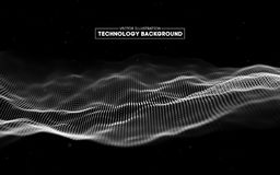 Fondo abstracto de la tecnología Rejilla del fondo 3d Wireframe futurista de la tecnología del Ai de la tecnología de la red cibe Imagen de archivo libre de regalías