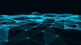 Fondo abstracto de la tecnolog?a Estructura de la conexi?n de red Fondo digital de los datos grandes representaci?n 3d foto de archivo