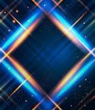 Fondo abstracto de la tela escocesa con efectos luminosos. Fotos de archivo libres de regalías