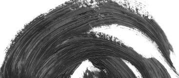 Fondo abstracto de la tinta Estilo de mármol Textura blanco y negro del movimiento de la pintura Imagen macra de la goma spacklin Fotografía de archivo