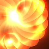 Fondo abstracto de la torsión con la flama ilustración del vector