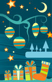 Fondo abstracto de la vertical de la Navidad ilustración del vector