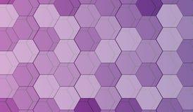 Fondo abstracto de la violeta del polígono Foto de archivo