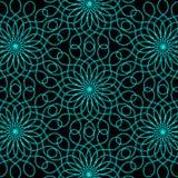 Fondo abstracto de Lacy Turquoise Flowers ilustración del vector