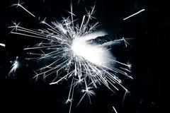 Fondo abstracto de las bengalas del ` s del Año Nuevo Imagen de archivo libre de regalías