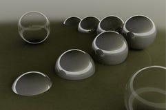Fondo abstracto de las bolas de cristal Foto de archivo