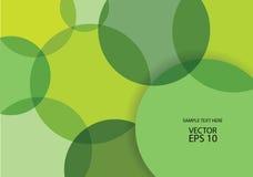 Fondo abstracto de las burbujas del verde del vector Foto de archivo