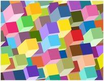 Fondo abstracto de las columnas 3d Foto de archivo