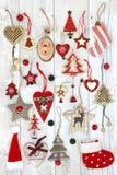 Fondo abstracto de las decoraciones del árbol de navidad Foto de archivo libre de regalías