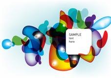 Fondo abstracto de las dimensiones de una variable coloridas Fotos de archivo libres de regalías