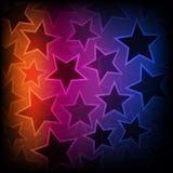 Fondo abstracto de las estrellas que brilla intensamente stock de ilustración