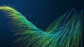 Fondo abstracto de las fibras ?pticas ilustración del vector