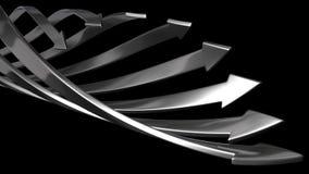Fondo abstracto de las flechas 3d Fotografía de archivo libre de regalías