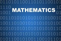 Fondo abstracto de las matemáticas Foto de archivo libre de regalías