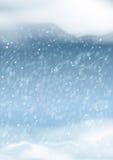 Fondo abstracto de las nevadas del invierno del vector Imagen de archivo libre de regalías
