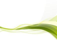 Fondo abstracto de las ondas verdes Imagenes de archivo