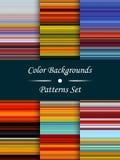 Fondo abstracto de las rayas coloridas horizontales, efecto estirado de los pixeles, modelos inconsútiles, sistema, ejemplo Fotografía de archivo libre de regalías