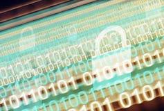 Fondo abstracto de las tecnologías de seguridad de Digitaces foto de archivo