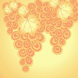 Fondo abstracto de las uvas rizadas Imagen de archivo