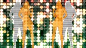 Fondo abstracto de Loopable con las muchachas de baile agradables libre illustration
