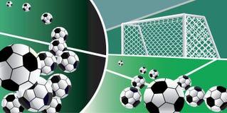 Fondo abstracto de los balones de fútbol. Foto de archivo libre de regalías