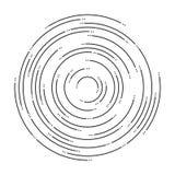 Fondo abstracto de los círculos concéntricos de la ondulación libre illustration