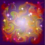 Fondo abstracto de los colores del espacio con las estrellas ligeras Fotos de archivo