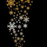 Fondo abstracto de los copos de nieve Foto de archivo
