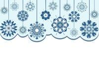 Fondo abstracto de los copos de nieve Fotos de archivo