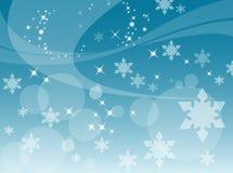 Fondo abstracto de los copos de nieve Imagen de archivo libre de regalías