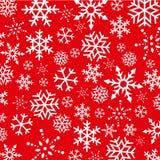 Fondo abstracto de los copos de nieve de la Navidad Imagen de archivo