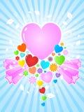 Fondo abstracto de los corazones Imágenes de archivo libres de regalías
