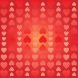 Fondo abstracto de los corazones dispuestos verticalmente libre illustration